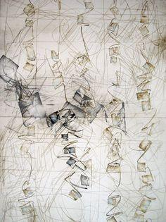 Kitty Sabatier | 106, pigments sur papier fait main, 65 x100 cm /sm