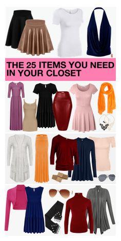 The 25 Items you need in your closet #simlu #clothing #capsulewardrobe #madeinusa
