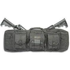 Drago Tactical Double Rifle Case 36 Shoulder Straps Black