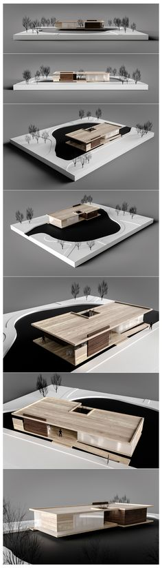 Galeria de Artes on Behance - - Maquette Architecture, Concept Models Architecture, Architecture Model Making, Architecture Drawings, Futuristic Architecture, Architecture Design, Architecture Colleges, Architecture Panel, London Architecture