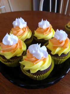 Candy corn cupcakes #Halloween