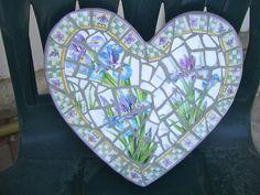 Iris mosaic stepping stone, available at Precious Times, Redlands
