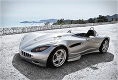 Veritas RS3 Roadster Hybrid. Capable of reaching 100km/h in 3.1 seconds & can reach a maximum speed of 330km/h.