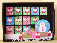 Christmas countdown made with the #Cricut machine