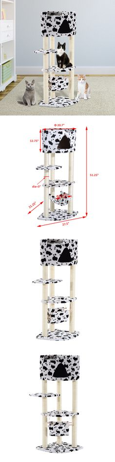 Animals Cats: Cat Tree Tower Condo Furniture Scratch Post Kitty Pet House Play W Hammock -> BUY IT NOW ONLY: $34.99 on eBay!