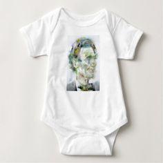 ABRAHAM LINCOLN - watercolor portrait Baby Bodysuit - portrait gifts cyo diy personalize custom