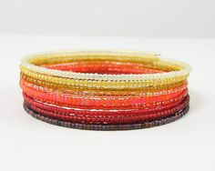 Ombre Bracelet Light to Dark Yellow Amber Orange by CharleneSevier, 24.00#Repin By:Pinterest++ for iPad#