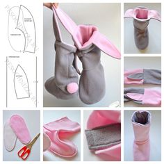 DIY Lovely Bunny Slippers--> http://wonderfuldiy.com/wonderful-diy-lovely-bunny-slippers/#diy #craft