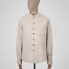 S.E.H Kelly - Heather Cotton Granddad Shirt (Ecru)