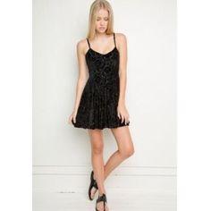 Brandy Melville Dress Black floral velvet dress from BM. Brandy Melville Dresses
