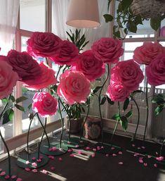 Фотозона, большие бумажные цветы TopArt СПб