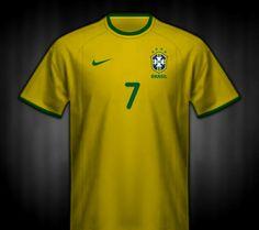 Brazil home shirt for Copa America 2001.