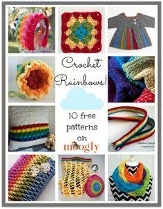 Rainbow crochet free patterns :)