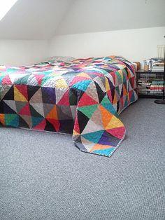 narzuta patchwork kolor - dom-artystyczny - Kołdry i patchwork