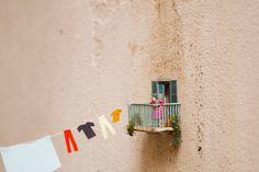 Urban Street Art - Miniature People Need to Do Laundry Too - Slinkachu: Italy (4 pics) - My Modern Metropolis