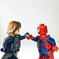"""You have a metal arm? This is awesome Dude!""  #lego#legosuperheroes#legofandom#teamcap #teamironman#premiere#Indonesia#legominifigures#minifigure#minifigures#toyunion#picoftheday#instadaily#toys#toyslagram#toyphotography#movie#afol#metal#m#legostagram#legolife#trailer#movie#moviescene#preview#spidey#tomholland#bucky#wintersoldier#civilwar by azkagoldi"