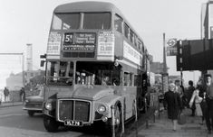 on the out of West Ham(PR)Garage in November London Transport, Rt Bus, Transportation, Routemaster, Double Decker Bus, Bus Coach, London Bus, Old Street, Diesel Locomotive