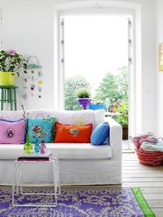 Home Decoration,Winsome Bright Living Room With White Sofa And Colorful Pillows X With Fascinating Bright Living Room Colors For Ideas Design,Bright Living Room Colors Colourful Living Room, Bright Rooms, Living Room Colors, Living Room Designs, Living Spaces, Living Rooms, Living Area, Colorful Rooms, Family Rooms