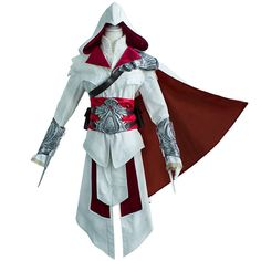 Ezio Auditore da Firenze Cosplay Assassins Creed Discovery Brotherhood Costume #UWOWO #Suit