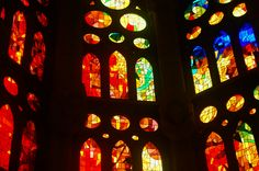 Sagrada Familia stained glass windows - Antonio Gaudí