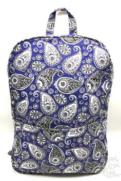New item today Quilted Pasley Bl... found at  http://keywebco.myshopify.com/products/quilted-pasley-blue-gray-backpack-fabric-home-office-school-travel-new?utm_campaign=social_autopilot&utm_source=pin&utm_medium=pin