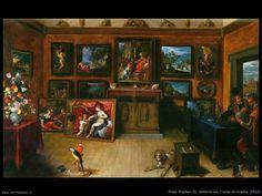 Galleria con uomo di scienze,Frans Francken, 1612