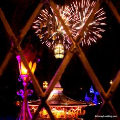 Cinderellas Royal Table - view of fireworks with beast's castle tami@goseemickey.com
