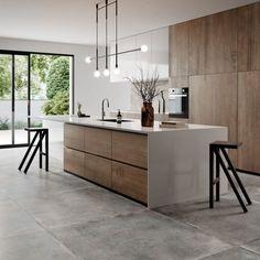 Kitchen Room Design, Living Room Kitchen, Kitchen Layout, Home Decor Kitchen, Interior Design Kitchen, Home Kitchens, Kitchen Ideas, Modern Kitchen Furniture, Farmhouse Kitchens