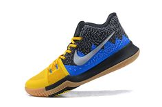 """d5414cc17619 Nike Kyrie 3 """"What The"""" University Gold Blue Glow-Black For Sale"""