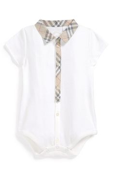 Burberry Bodysuit (Baby) available at #Nordstrom