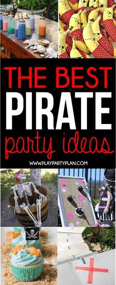 The ultimate collection of pirate party ideas! From ideas you can DIY to ideas you can buy, if you