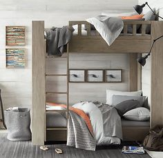 Callum Platform Full-Over-Full Bunk Bed   All Beds   Restoration Hardware Baby & Child
