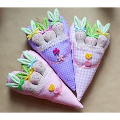 Tilda hearts with rabbits. Тильда сердечки с кроликами