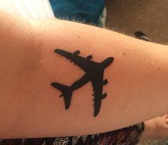 My A380 tattoo :) #plane #tattoo #A380 #airplane #tattoo #planetattoo #tattooideas