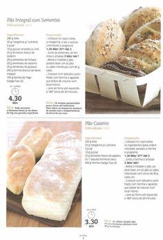Pão caseiro Gluten Free Recipes, Bread Recipes, Healthy Recipes, Pain Pizza, My Kitchen Rules, Food C, Happy Foods, Hot Dog Buns, I Foods