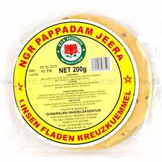 NGR, Kreuzkümmel Papadam, Jeera Cumin Pappad, Pappadums, 200g