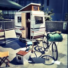 Very cool bike camper. Made me think of Troy. And Manuel a little bit