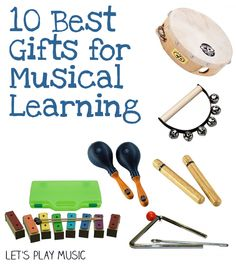 These 10 Great Gifts For Musical Learning are sure to encourage and nurture a love of music in your child with lots of fun too.