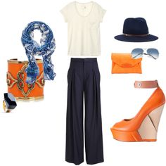 orange & navy blue, created by carinapb.polyvore.com