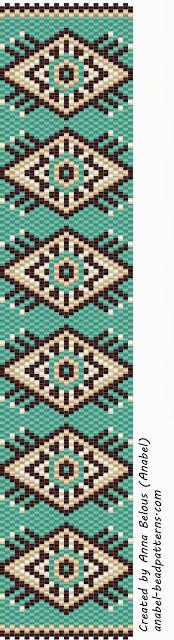 The scheme bracelet - weaving a mosaic beadwork