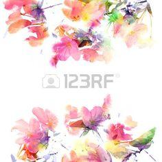Картинки по запросу цветочный фон акварель