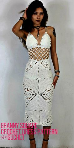 Crochet dress pattern. Crochet maxi dress. Crochet wedding dress.