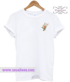 Flower T Shirt from usualtees.com This t-shirt is Made To Order, one by one printed so we can control the quality.