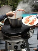 Crab legs made on the Evo Circular Cooktop!