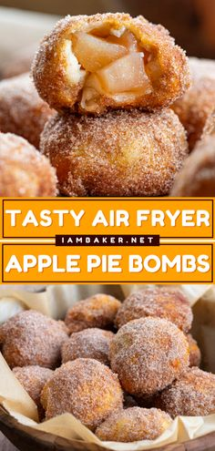 Apple Pie Recipes, Donut Recipes, Sweet Recipes, Strudel Recipes, Air Fryer Dinner Recipes, Air Fryer Recipes Easy, Easy Desserts, Dessert Recipes, Apple Desserts