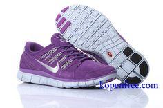 Goedkoop Schoenen Nike Free 5.0 + Dames (kleur:vamp&inside-paars;logo en zool-wit) Online Winkel.
