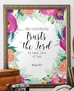 Nursery Bible Verse Bible verse art by TwoBrushesDesigns on Etsy #bibleverses #printableart