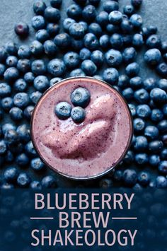 Blueberries and coffee might seem like an odd combination at first, but after one sip of this Café Latte Shakeology recipe, you'll see that you've been missing out on a stellar pairing this whole time! // healthy recipes // breakfasts // snacks // Shakeology ideas // drinks // smoothies // beachbody // beachbody blog