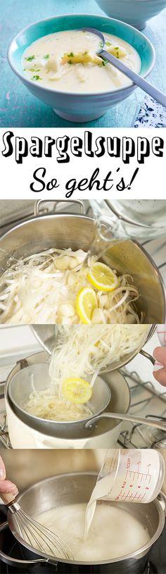 Spargelschale über? Mach leckere Suppe draus!