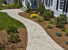 Sidewalk Design Ideas attactive cobblestone look to walkway leading to porch Brick Or Stone Front Walkways Or Stone Borders Brick Pavers Offer Traditional Classic Beauty To